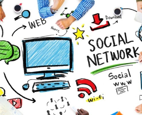 Social Network Social Media People Meeting Communication Concept